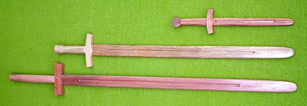 Wooden broadswords